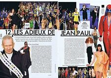 COUPURE DE PRESSE CLIPPING 2014 JEAN-PAUL GAULTIER  (2 pages)