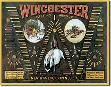 Winchester Bullet Board Metal Tin Sign Wall Art