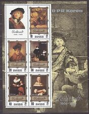 KOREA Pn. 1983 MNH** SC#2268 Sheet,  Rembrandt Paintings.