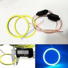 2 X 100MM 72LED Waterproof COB Chip SMD Car Angel Eyes Headl ight Halo Ring Blue