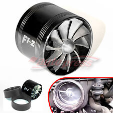 Supercharger Turbonator F1Z Fuel Saver SINGLE BLADE Air Intake CHARGER Black Fan