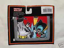 NEW BATMAN & ROBIN  TRIFOLD COIN RED WALLET