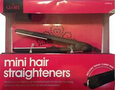 MINI HAIR STRAIGHTENERS mens-womens piccolo viaggio + Carry Bag Handbag breve Xmas