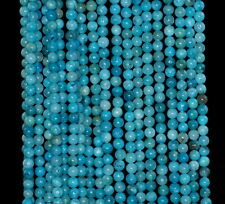 3MM  HEMIMORPHITE GEMSTONE GRADE AA BLUE ROUND LOOSE BEADS 15.5""