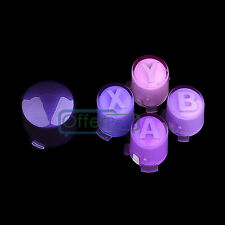 Gradient Purple ABXY + Guide Buttons Parts Set For Xbox 360 Custom Controller