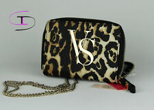 VICTORIAS SECRET LEOPARD CROSSBODY CLUTCH WALLET IPHONE CASE WINDOW NWT 1168F