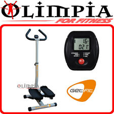 GetFIT - BAR STEP mini stepper con MANUBRIO regolabile in altezza e computer