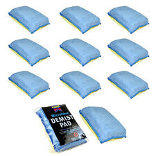 10 x MICROFIBRE CAR DEMIST DEMISTER PAD WINDSCREEN WINDOW MIRROR GLASS ABSORBENT
