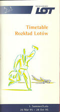 LOT Polish Airlines system timetable 3/26/95 [5071] Buy 2 get 1 free