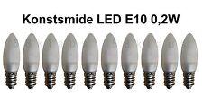 10 LED E10 0,2W Konstsmide Birnen Lampe Topkerzen Spitzkerze Riffelkerze matt ww