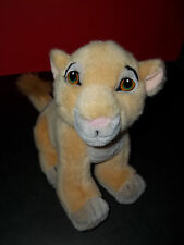 Vintage Disney Store The Lion King Baby Simba Lion Cub Plush GUC