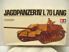 RARE Vintage JAGDPANZER IV L/70 LANG PANZER TANK Tamiya Model Kit - 1:35 - JAPAN