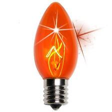 25 C9 Twinkle Orange Triple Dipped Transparent Indoor/Outdoor Christmas Bulbs