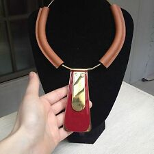 ELEGANT MARNI LEATHER COLLAR NECKLACE – NEW WITH DUSTBAG