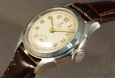 Rare Vintage 1940s Lady's Rolex Tudor Oyster Stainless Steel Watch, Fancy Lugs