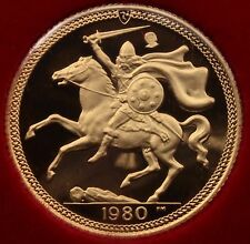 1980 Isle of Man Gold Full Sovereign Proof 80th birthday of the Queen mother