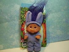 "1985 MISS BUNNY - 3"" Dam Norfin Troll Doll Wildlife Series - NEW ON CARD"