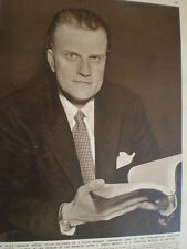 Photo article US Evangelist preacher Billy Graham 1954 Ref O54