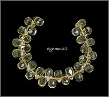 30 Lemon Quartz Teardrop Briolette Beads 5x7mm #78179
