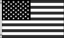 Black White Gray USA United States Flag American Banner 3x5 Foot