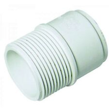 """FLOPLAST 40mm 1.1/2"""" MALE ADAPTOR ADAPTER CONNECTOR WHITE ABS SOLVENT WASTE WELD"""
