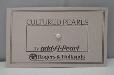 ADD-A-PEARL SMALL 4MM CULTURED PEARL ON CARD FOR ROGERS & HOLLANDS JEWELERS **