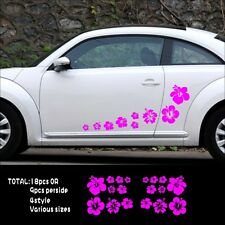 Car Hawaiian Hibiscus Flower Door Decal for Beetle Vinyl Side sticker #1001