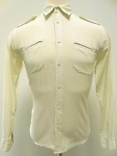 MARC by MARC Jacobs SHIRT Mens S Button FRONT Pale YELLOW Cotton MEN Size SMALL*