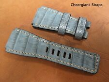 Bell & Ross crocodile watch strap custom made lug size fits BR-01,BR-02 or BR-03