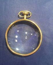 Carl Auböck Mid Century Brass Convex Pocket Watch Magnifying Glass Paperweight