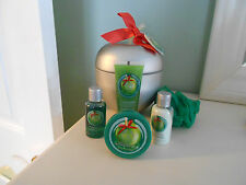 The Body Shop Glazed Apple Skin Care Gift Set in Tin -Limited Edition *READ*
