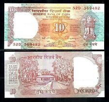 India Old 10 Rupees Shalimar  Sign C Rangarajan  AUNC NOTE # J