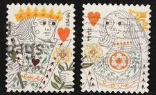 Scott #4404-05 Used Set of 2, Love - King and Queen of Hearts