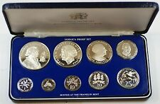 1977 Franklin Mint Jamaica Proof Set with Silver 10$ and 5$ Coins