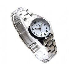 Casio LTP1215A-7B2 Ladies Analog Stainless Steel Dress Watch White Dial Quartz