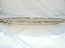 """WALLACE BAROQUE #297 SILVER on COPPER FOOTED GALLERY SERVING TRAY SALVER 16 1/2"""""""