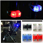 2X Frog Silicone Bike Bicycle Cycling Head Front Rear Wheel LED Flash Light Lamp