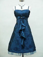 Cherlone Plus Size Blue Prom Ball Evening Formal Bridesmaid Wedding Dress 22-24