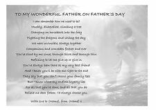 Personalised Father's Day Gift Poem: Birthday Xmas. Dad Daddy Uncle Grandad