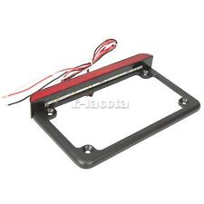 Motorcycle Aluminum LED License Plate Frame With LED Tail Brake Light Universal