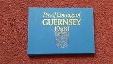 1981 BAILIWICK OF GUERNSEY PROOF SET COVER- PAPER CASE ONLY-NO COINS!