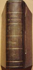 JOURNAL DE PHARMACIE ET DE CHIMIE - 2 TOMES EN 1 VOLUME - 1881