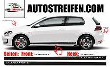 VW Golf V-VII GTI CLUBSPORT Seitenstreifen Aufkleber Set für 3 & 5 Türer