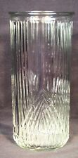 VTG HOOSIER VASE #4101 TALL CLEAR RIBBED PRESSED GLASS DECORATIVE UNIQUE RARE