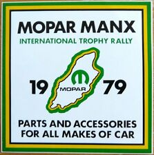 1979 Mopar Manx International Trophy Rally / Motorsport Sticker Decal