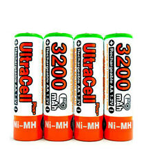 2 AA NiMH HR6 3200mAh Rechargeable Battery UltraCell O
