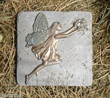 plaster cement leaping fairy w flower plastic travertine tile mold