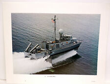 Vintage U.S. NAVY PHOTO Print USS Taurus PHM-3 Hydrofoil High Speed Ship Boat