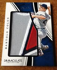 2016 Immaculate Collection Immaculate Jumbo Patch BlACK Bartolo Colon 1/1 Wow