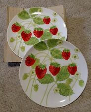 Fitz And Floyd Wild Strawberry Snack Set 4 plates, and 4 cups  JMR